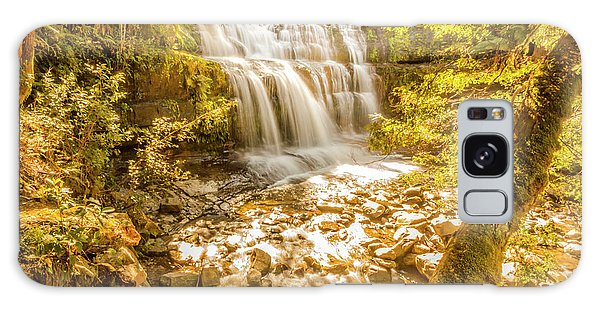Stone Wall Galaxy Case - Spring Waterfall by Jorgo Photography - Wall Art Gallery