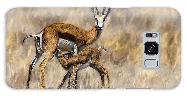 Springbok Mom And Calf Galaxy Case