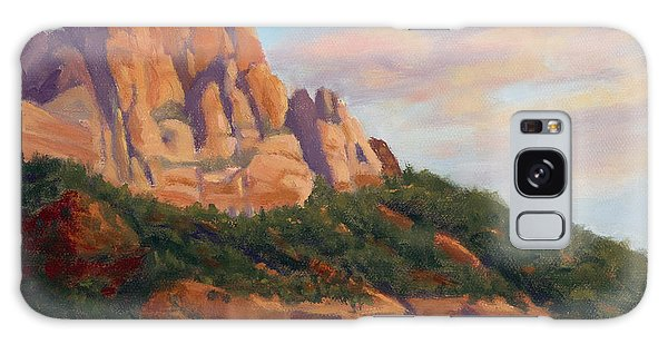 Springdale Sunset On Johnson Mountain Galaxy Case