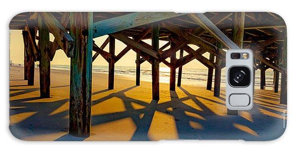 Springmaid Pier At Sunrise Galaxy Case