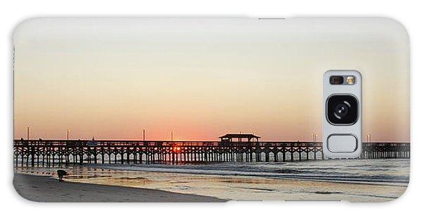 Springmaid Pier Sunrise Galaxy Case by Gordon Mooneyhan