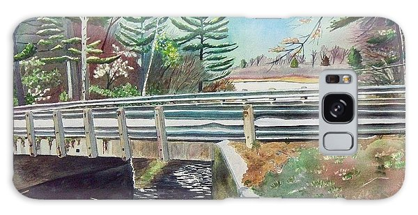 Springtime At Bass Lake Bridge Galaxy Case