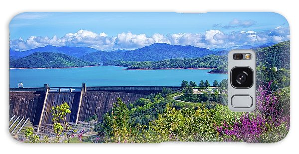 Springtime At Shasta Lake Dam Galaxy Case