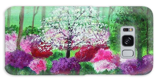 Galaxy Case featuring the painting Springtime Azaleas In Georgia by Sonya Nancy Capling-Bacle