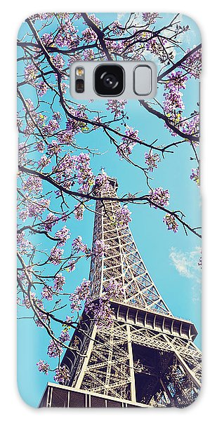 Springtime In Paris - Eiffel Tower Photograph Galaxy Case by Melanie Alexandra Price