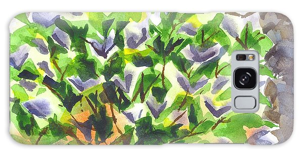 Springtime Lilac Abstraction Galaxy Case by Kip DeVore