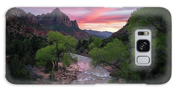 Springtime Sunset At Zion National Park Galaxy Case