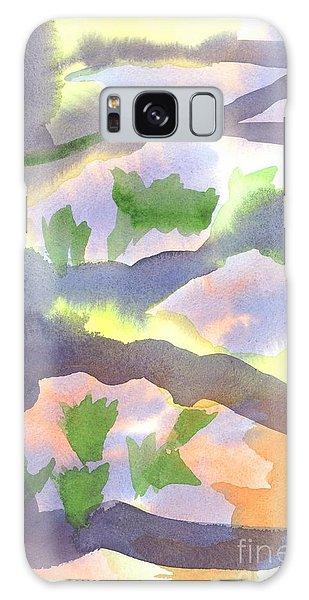 Springtime Wildflower Camouflage  Galaxy Case by Kip DeVore
