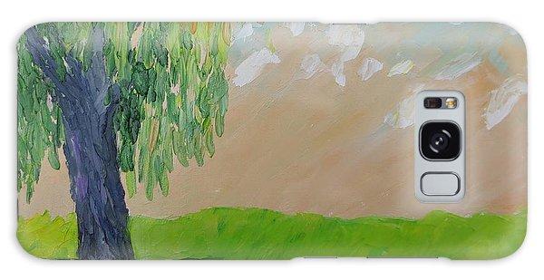 Springtime Willow Galaxy Case