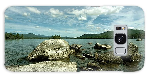 Squam Lake On The Rocks Galaxy Case