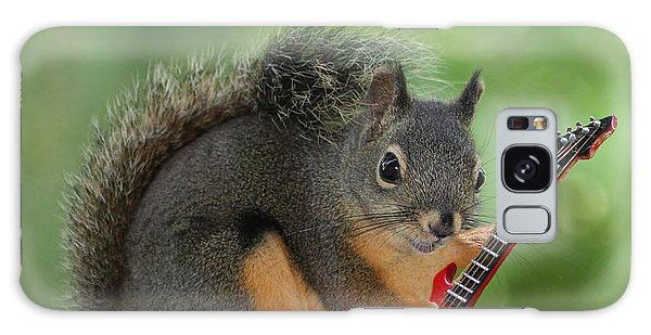 Squirrel Playing Electric Guitar Galaxy Case