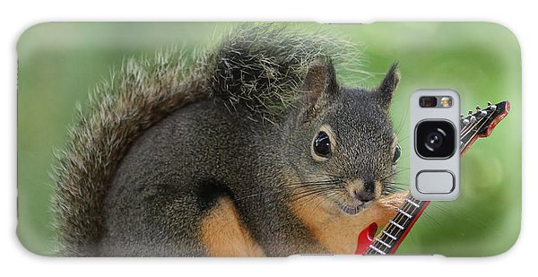 Squirrel Playing Electric Guitar Galaxy Case by Peggy Collins