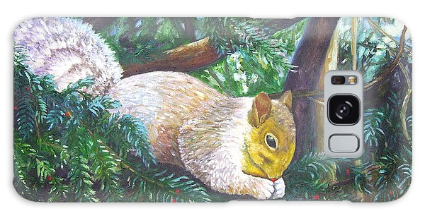 Squirrel Snacking Galaxy Case