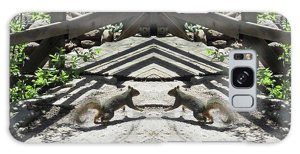 Squirrels Dancing On A Bridge Galaxy Case
