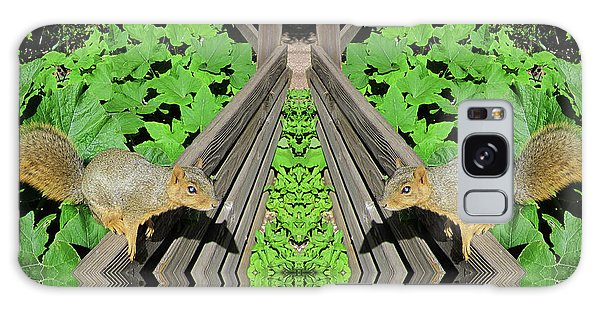 Squirrels On Fence In Surreal World Galaxy Case