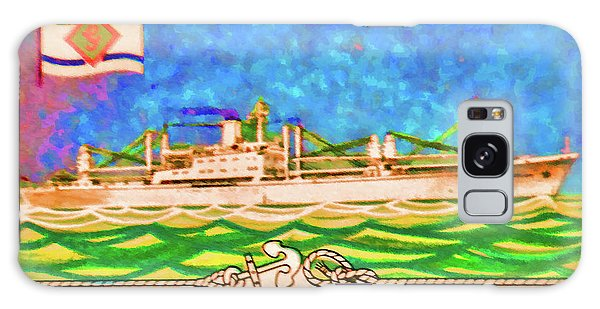 S.s Geestland And House Flag Geest Line Galaxy Case