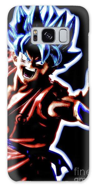 Galaxy Case featuring the digital art Ssjg Goku by Ray Shiu