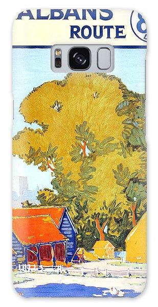Cottage Galaxy Case - St Albans Route - London Underground - Metro - Retro Travel Poster - Vintage Poster by Studio Grafiikka