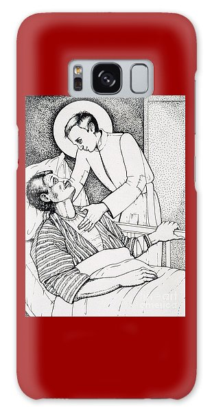 Galaxy Case featuring the drawing St Aloysius Gonzaga- Patron Of People With Hiv-aids And Caregivers 1987 by William Hart McNichols