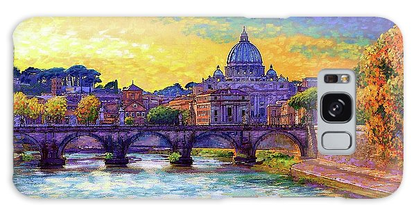 Colour Galaxy Case - St Angelo Bridge Ponte St Angelo Rome by Jane Small