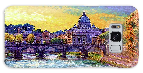 Cityscape Galaxy Case - St Angelo Bridge Ponte St Angelo Rome by Jane Small