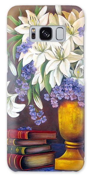 St. Anthony's Lilies Galaxy Case by Katia Aho