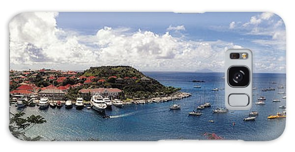 Galaxy Case featuring the photograph St. Barths Harbor At Gustavia, St. Barthelemy by Lars Lentz