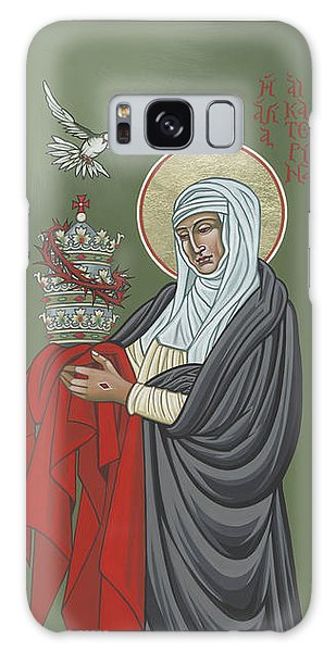 Galaxy Case featuring the painting St Catherine Of Siena- Guardian Of The Papacy 288 by William Hart McNichols