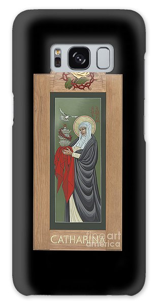 Galaxy Case featuring the painting St Catherine Of Siena With Frame by William Hart McNichols