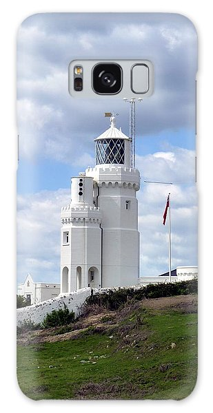St. Catherine's Lighthouse On The Isle Of Wight Galaxy Case by Carla Parris