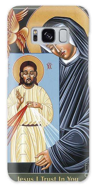 St Faustina Kowalska Apostle Of Divine Mercy 094 Galaxy Case