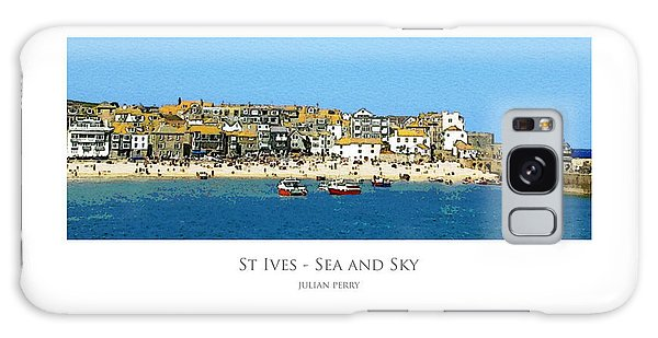 Galaxy Case featuring the digital art St Ives Sea And Sky by Julian Perry