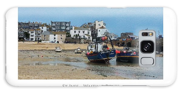 Galaxy Case featuring the digital art St Ives - Waiting Boats by Julian Perry