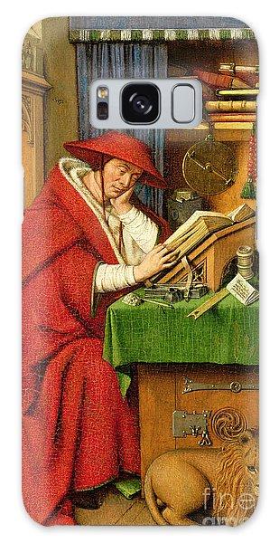 Jan Galaxy Case - St. Jerome In His Study  by Jan van Eyck
