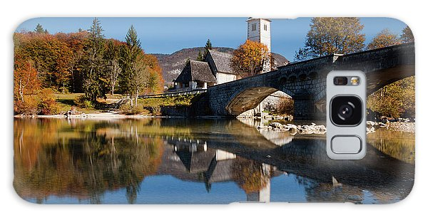 Galaxy Case featuring the photograph St. John The Baptist On The Lake Bohinj by Davor Zerjav