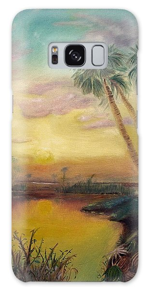 St. Johns Sunset Galaxy Case by Dawn Harrell