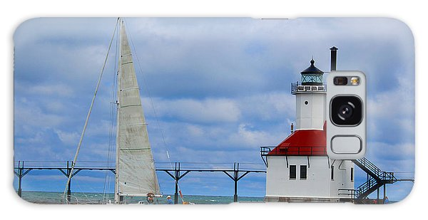 St. Joseph Lighthouse Sailboat Galaxy Case