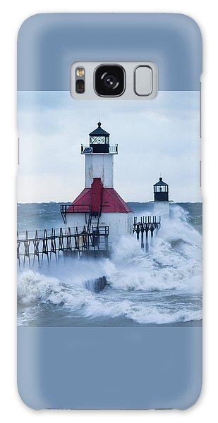 St. Joseph Lighthouse With Waves Galaxy Case