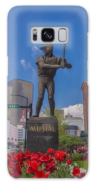 St. Louis Cardinals Busch Stadium Stan Musial Roses Galaxy Case