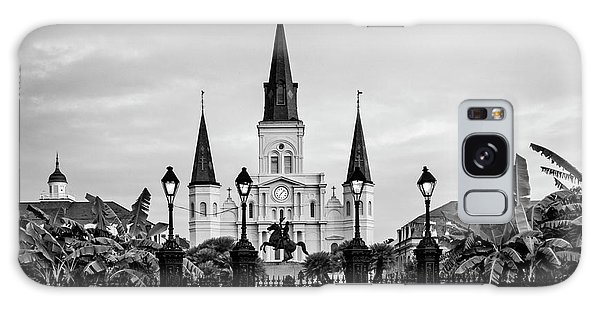 St. Louis Cathedral In Black And White Galaxy Case