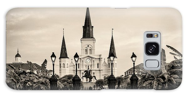 St. Louis Cathedral Sepia Galaxy Case