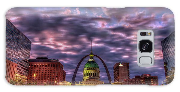 St Louis Mo Galaxy Case - St Louis Reflective Sunrise Old St Louis County Court House Art by Reid Callaway
