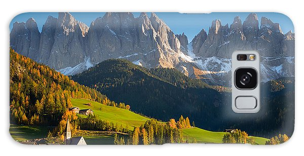 St. Magdalena Alpine Village In Autumn Galaxy Case by IPics Photography