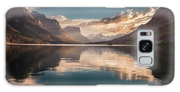 St Mary Lake Sunset Galaxy Case