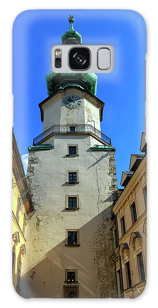 St Michael's Tower In The Old City, Bratislava, Slovakia, Europe Galaxy Case by Elenarts - Elena Duvernay photo