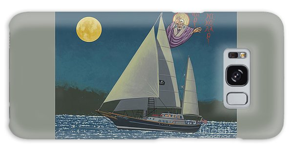 Galaxy Case featuring the painting St Nicholas Patron Of Children, Sailors And Sea Shepherds- 296 by William Hart McNichols