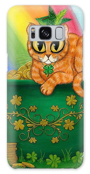 St. Paddy's Day Cat - Orange Tabby Galaxy Case