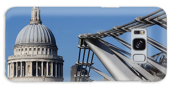 St Pauls Cathedral And The Millenium Bridge  Galaxy Case