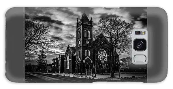 St Pauls United Church Milton  Black And White Galaxy Case
