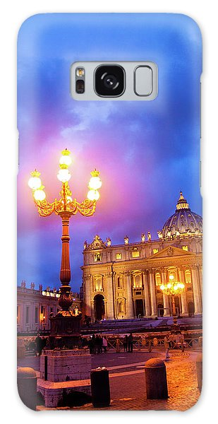 St. Peters Cathedral At Night Galaxy Case